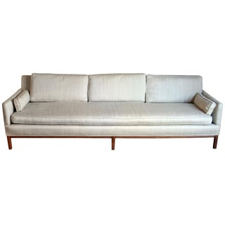 Mid-Century Modern Long and Low Sofa For Sale