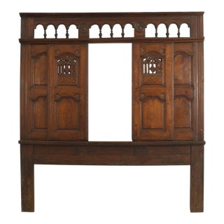 "18th Century Italian Renaissance ""Headboard"" Originally From Walnut Confessional For Sale"