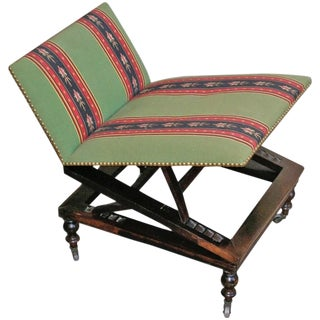 19th Century Adjustable Rosewood Gout Stool For Sale