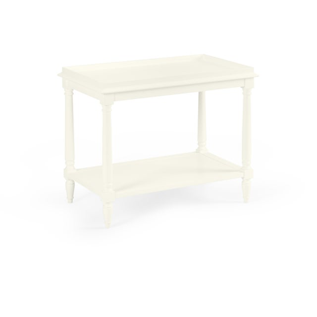 Transitional Casa Cosima Revere Side Table, Cloud White For Sale - Image 3 of 3