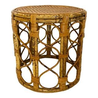 English Tortoiseshell Bamboo & Cane Top Table For Sale