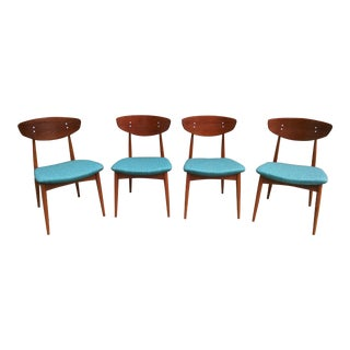 Rare Mid Century Danish Modern Daystom Chairs - a Set For Sale