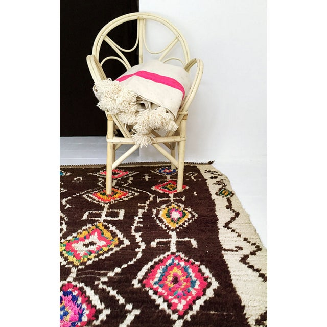 Azilal Moroccan Wool Rug - 4′5″ × 6′1″ - Image 3 of 7
