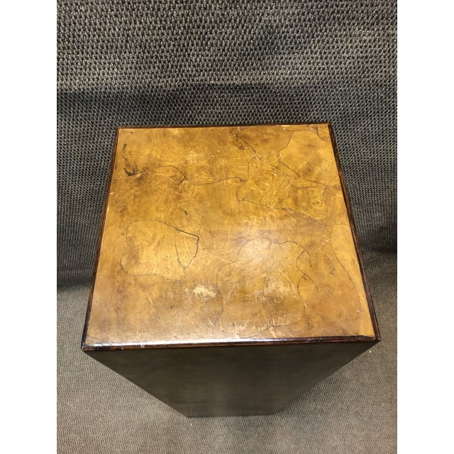 Mid-Century Italian Burlwood Pedestal For Sale In Chicago - Image 6 of 9