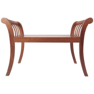 Contemporary Modern Teak Decorator's Bench For Sale