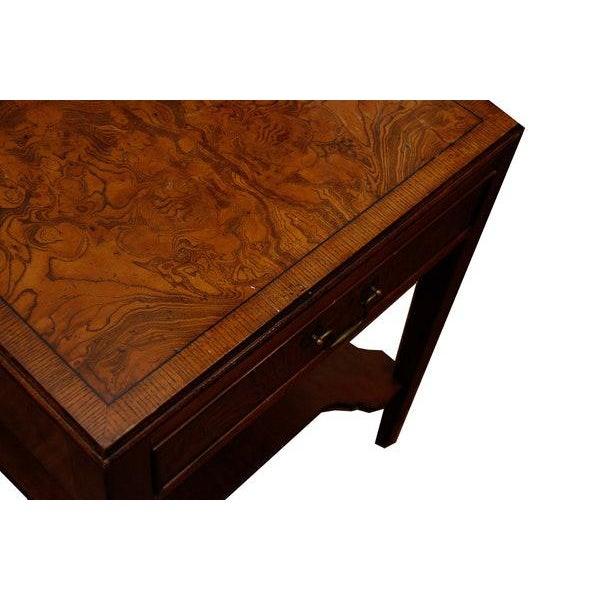 Mid-Century Modern Burlwood Side Table For Sale - Image 4 of 6