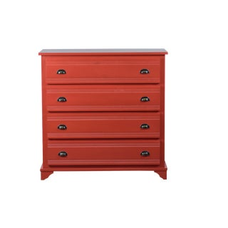 Reclaimed Wood Jolie Red Chest of Drawers/ Dresser