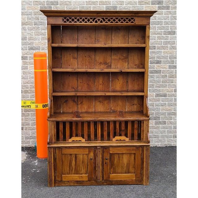 Antique 19th Century Irish Pine 2 Part Chicken Coop Cupboard Cabinet Hutch For Sale - Image 13 of 13