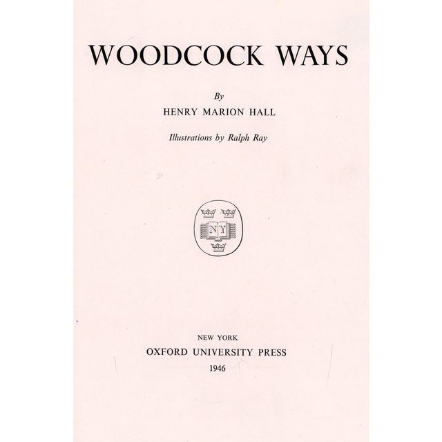 "Booth & Williams 1946 ""Woodcock Ways"" Coffee Table Book For Sale - Image 4 of 6"