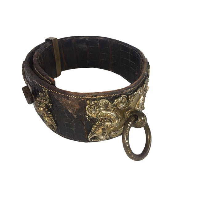 Brown 19th Century Dog Collar For Sale - Image 8 of 11