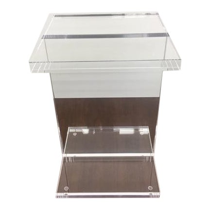 Modern Gus Acrylic I-Beam Drink/ End Table For Sale