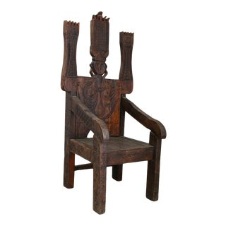 Central American Exotic Wood Throne. For Sale