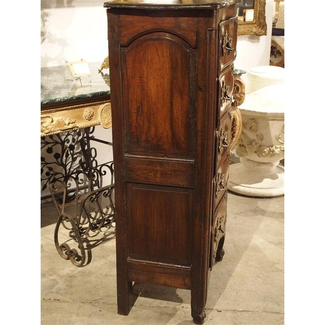 18th Century Walnut and Oak Chiffonier Chest of Drawers from France For Sale - Image 4 of 11