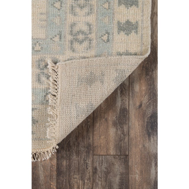 """2010s Erin Gates Concord Sudbury Ivory Hand Knotted Wool Area Rug 5'6"""" X 8'6"""" For Sale - Image 5 of 7"""