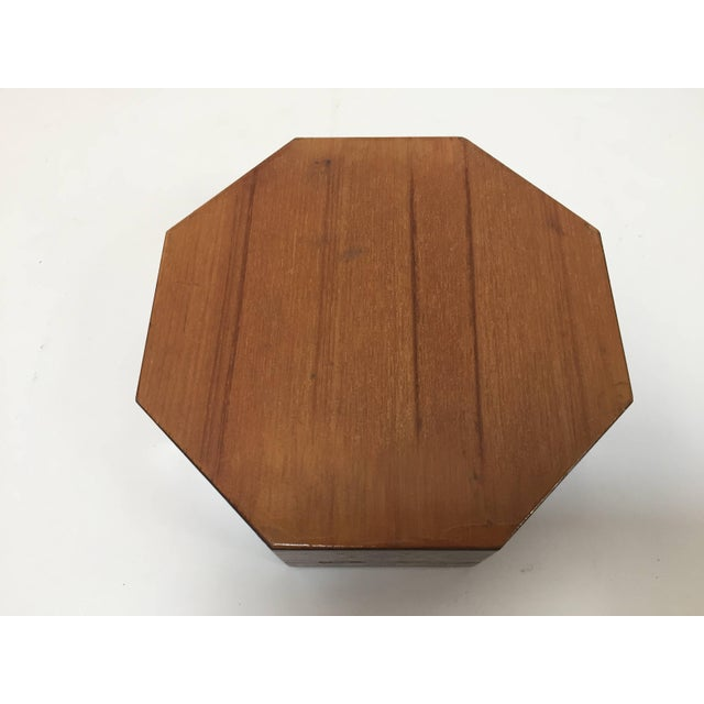 Fruitwood Middle Eastern Syrian Inlaid Marquetry Mosaic Octagonal Jewelry Box For Sale - Image 7 of 10