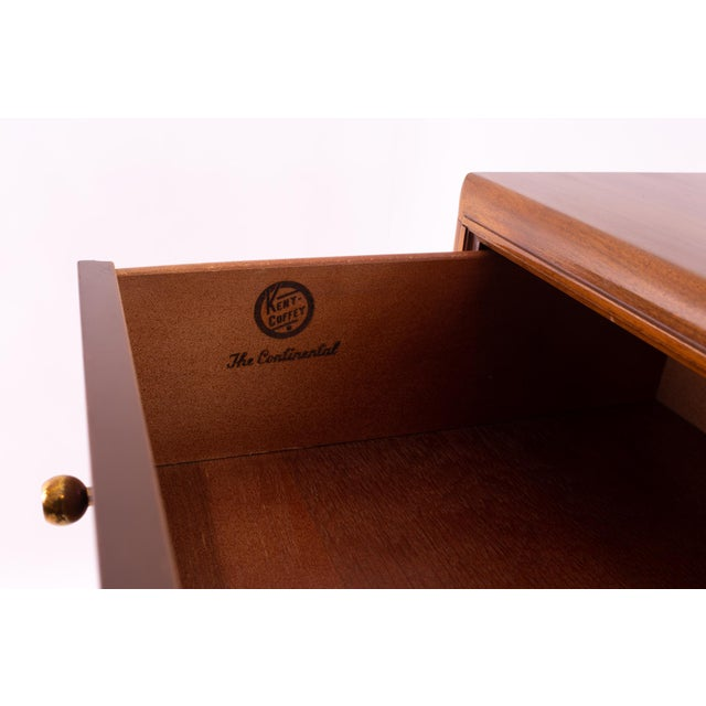 "Kent Coffey ""The Continental"" Mid Century Walnut Highboy Dresser For Sale - Image 11 of 12"