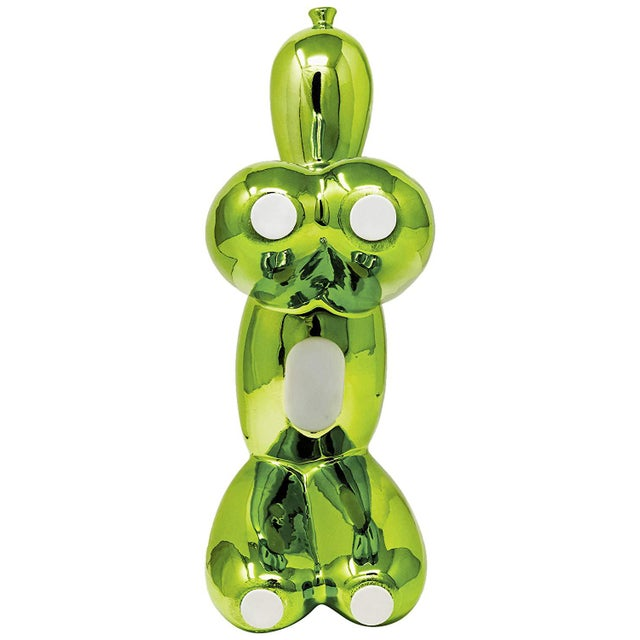 """Interior Illusions Plus Green Balloon Dog Bank - 12"""" Tall For Sale - Image 4 of 5"""