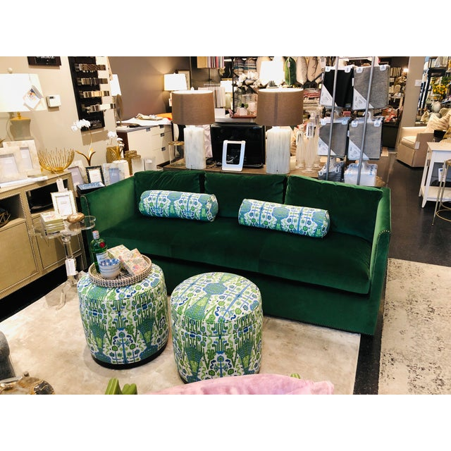 Who doesn't love a swivel ? Take a turn on these fun and playful Grant swivel ottomans from Highland House Furniture. Hand...