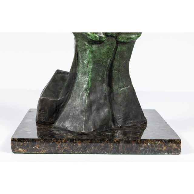 Bronze MId-Century Modern Bronze Abstract Sculpture For Sale - Image 7 of 9