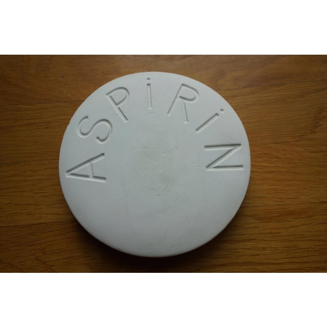 Vintage Mid Century Plaster Aspirin Paperweight For Sale - Image 4 of 10