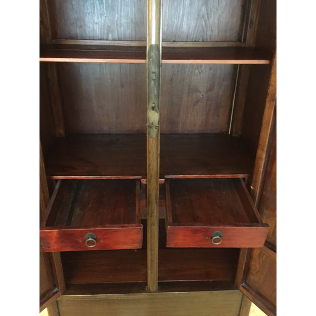 Chinese Ming-Style Armoire Cabinet - Image 6 of 6