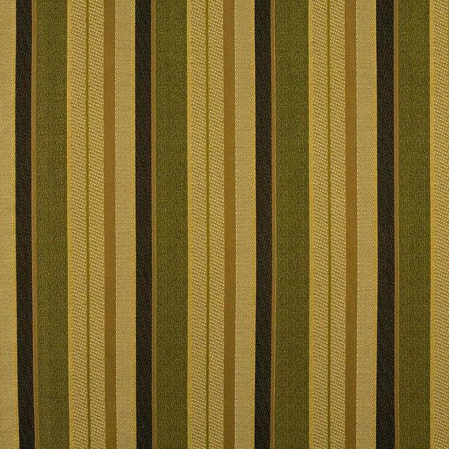 Victorian Sample, Suzanne Tucker Home Fleur De Plume Stripe in Peridot For Sale - Image 3 of 4