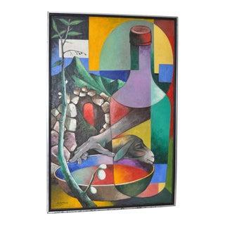 Jacques Enguerrand Gourgue (1930-1996) Haitian Master Original Oil Painting C.1950s For Sale