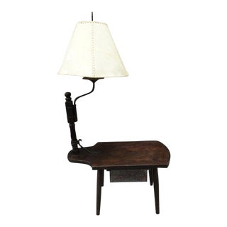 1920s Monterey Classic Swing Arm Lamp Side Table For Sale