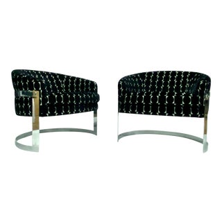 Milo Baughman Cantilevered Barrel Chairs For Sale