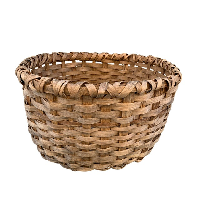 Massive 19th Century Oak Splint Wool Basket For Sale - Image 13 of 13