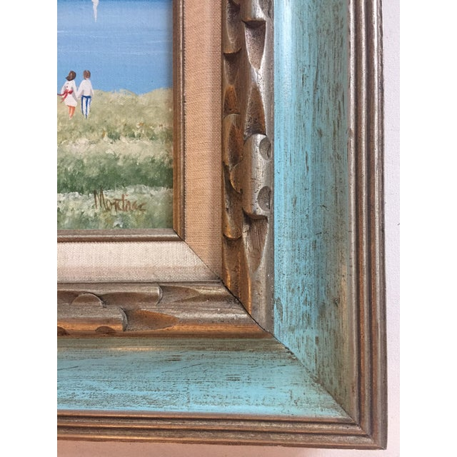 Impressionism Original Vintage Impressionist Painting by Montrec For Sale - Image 3 of 6