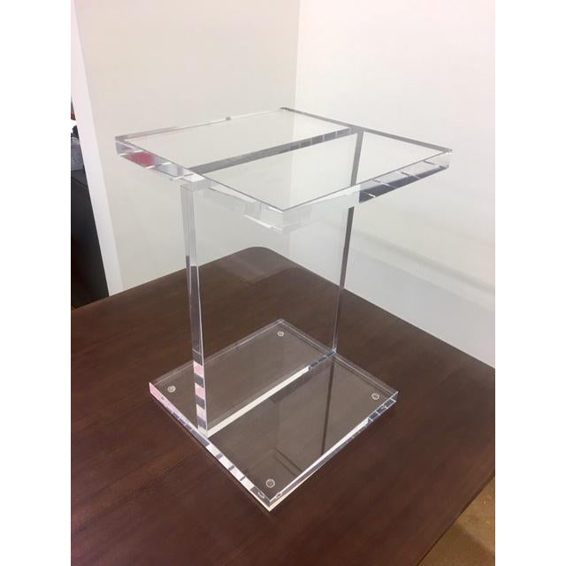 """The design of this table was inspired by the profile of steel I-Beam construction girders. Crafted from three 1"""" thick..."""