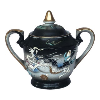 Japan Moriage Dragonware Sugar Bowl with Lid For Sale