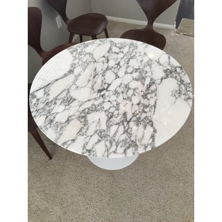"Mid-Century Modern Saarinen 35"" Round Marble Dining Table Preview"