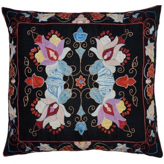 Silk Floral Pillow For Sale
