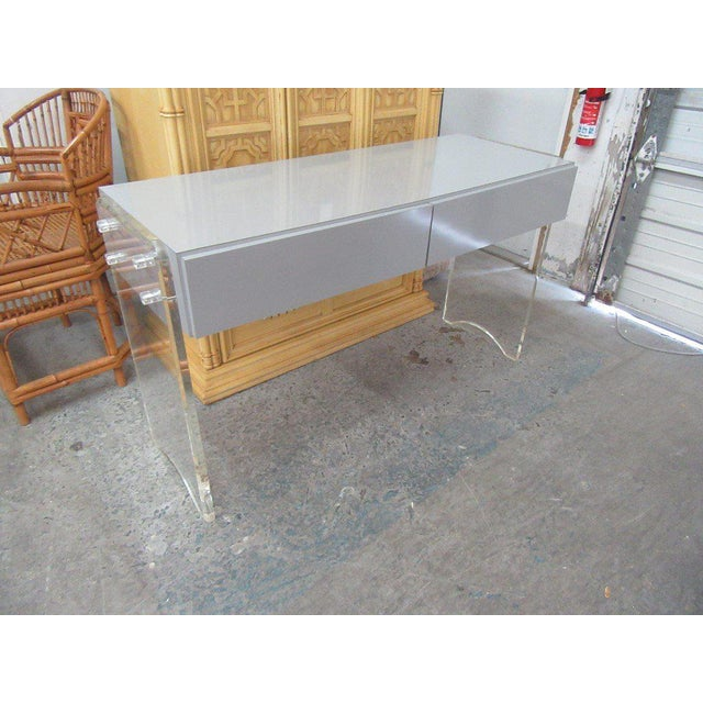 Lucite & Mica Vanity For Sale In West Palm - Image 6 of 6