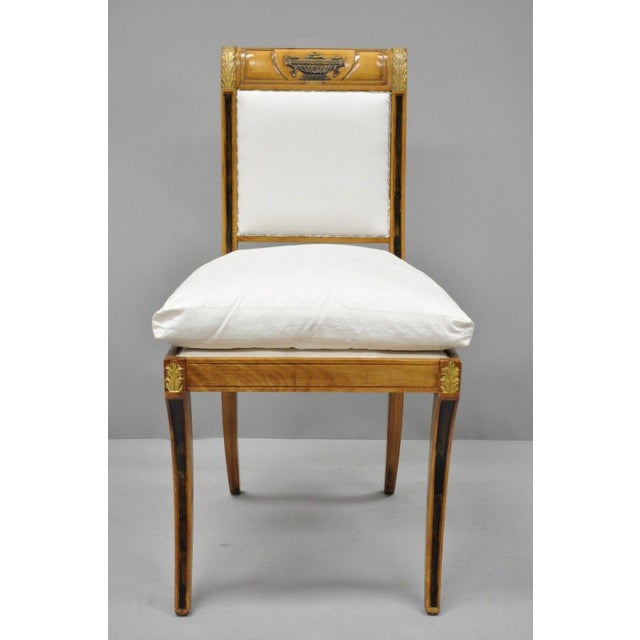Regency Neoclassical Style Saber Klismos Leg Accent Side Desk Chair For Sale - Image 12 of 13