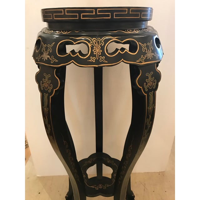Chinoiserie Style Plant Stand or Pedestal For Sale - Image 9 of 11