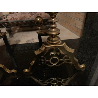 Vintage Brass Andirons - a Pair Preview
