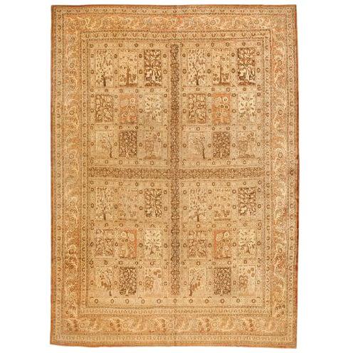 Antique 19th Century Persian Tabriz Carpet For Sale