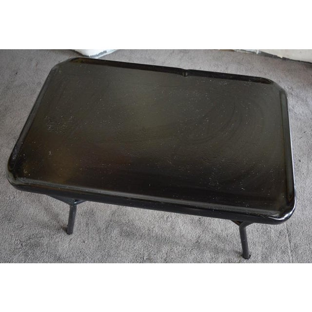 Russel Wright Black Metal Tray Table - Image 4 of 7
