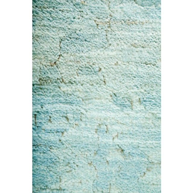"""Contemporary Vibrance Hand Knotted Runner - 3'0"""" X 10'2"""" For Sale - Image 3 of 3"""