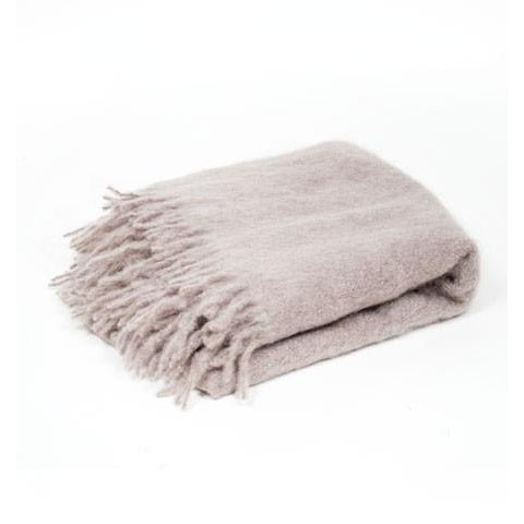 Contemporary Classic Mink Mohair Throw For Sale - Image 3 of 3