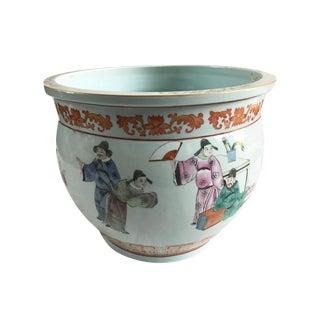 Vintage Oriental Style Jardiniere Planter For Sale