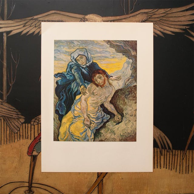 """Impressionism 1950s Van Gogh, First Edition Lithograph """"Pieta"""" (After Delacroix) For Sale - Image 3 of 8"""