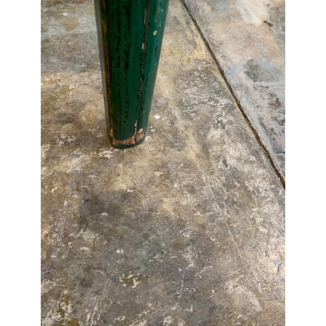Vintage Asian Console Table in Green For Sale - Image 9 of 12