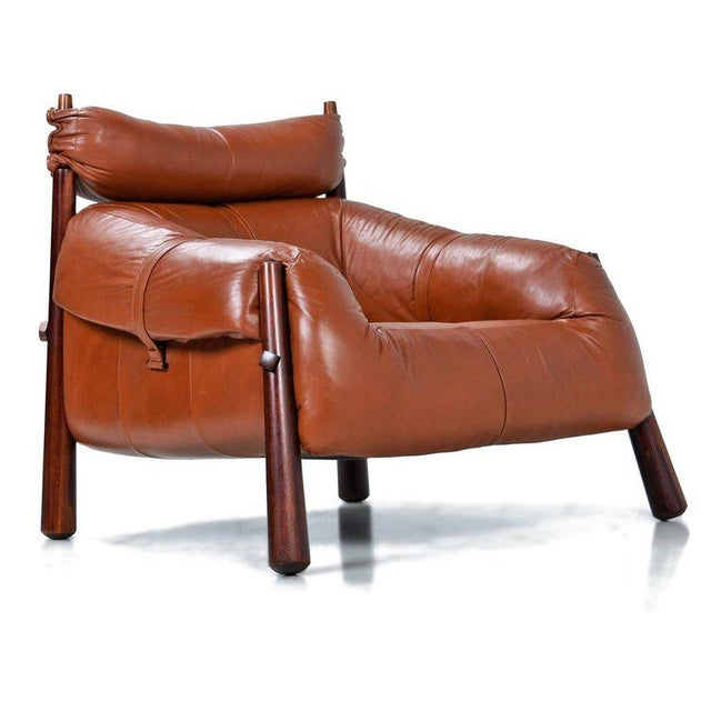 Percival Lafer Mp-81 Brazilian Rosewood & Leather Lounge Chairs and Ottoman Set For Sale In Tampa - Image 6 of 13
