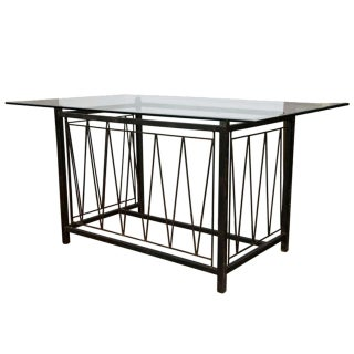 A Deigo Giacometti Style Metal Base Desk For Sale