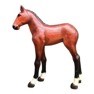 Vintage Resin Colt Horse Statue For Sale