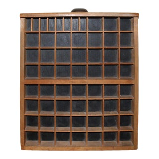 Vintage Wooden Typewriter Typeset Press Tray Shadow Box For Sale